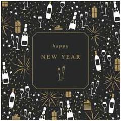 luxe nieuwjaarskaart woodmansterne - happy new year   muller wenskaarten