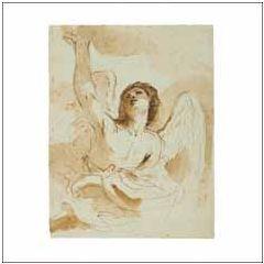 christelijke kerstkaart woodmansterne ashmolean - een engel | muller wenskaarten