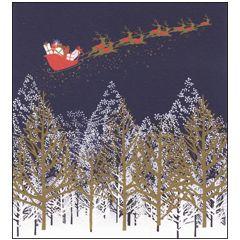 8 luxe kerstkaarten woodmansterne - arrenslee boven bos