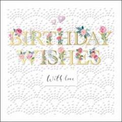 luxe verjaardagskaart woodmansterne - birthday wishes with love