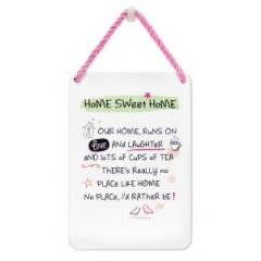 tinnen bordje met quote - hang-ups! quote -  home sweet home