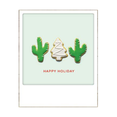 kerstansichtkaart instagram - happy holiday - cactus