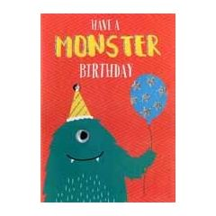 kinder verjaardagskaart - have a monster birthday