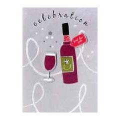 verjaardagskaart - celebration just for you - wijn