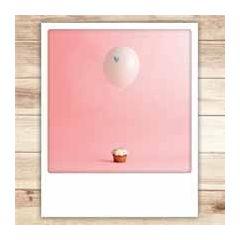 ansichtkaart instagram pickmotion - cupcake ballon hartje