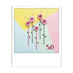 50 jaar - ansichtkaart instagram - 5 bloemen