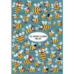 ansichtkaart - lali- wie verzamelt er honing voor jou - zoekplaatje