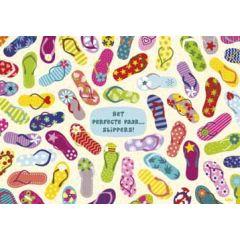 ansichtkaart - lali - zoekplaatje - het perfecte paar slippers