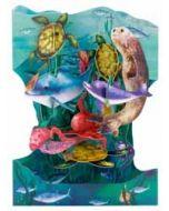 3D kaart - swing cards - zee dieren