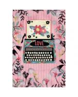 verjaardagskaart - love happy birthday - typemachine