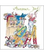 vaderdagkaart woodmansterne quentin blake - awesome dad!
