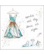 verjaardagskaart woodmansterne pink -  sparkle all day, dance all night