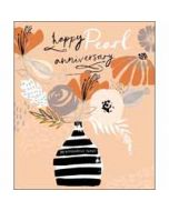 30 jaar getrouwd - wenskaart woodmansterne - happy pearl anniversary 30 wonderful years
