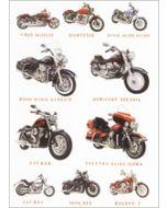 wenskaart clanna cards - dyna wide glide, road king classic, fat bob - motoren