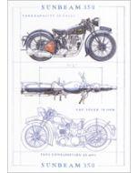 wenskaart clanna cards - sunbeam 350 - motor