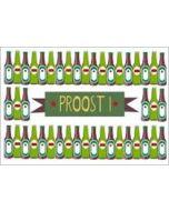 ansichtkaart  proost - bier