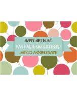 ansichtkaart verjaardagskaart - happy birthday van harte gefeliciteerd joyeux anniversaire