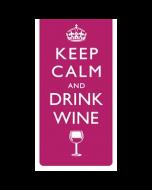 magnetische boekenlegger - keep calm and drink wine