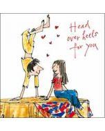 valentijnskaart  van quentin blake - head over heels for you