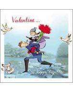 valentijnskaart  woodmansterne - valentine so happy together