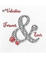 luxe valentijnskaart - my valentine forever & ever