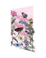 laser gesneden moederdagkaart - Roger la Borde - happy mother's day - bloemen en vlinders