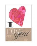 grote romantische kaart A4 - I love you