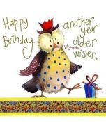 verjaardagskaart alex clark - happy birthday another year older but none the wiser - uil