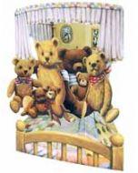 3D kaart - swing cards - teddyberen