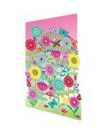 laser gesneden moederdagkaart - Roger la Borde - happy mother's day - bloemen