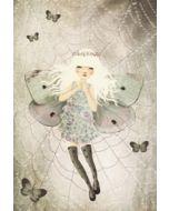 schriftje, notitieboekje A5 - vlindermeisje in web