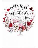 valentijnskaart - here s to us on valentines day