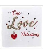 luxe grote valentijnskaart - to the one I love on valentines day