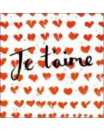 valentijnskaart  woodmansterne - je t'aime - hartjes