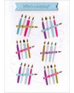 verjaardagskaart - who is counting - kaarsjes