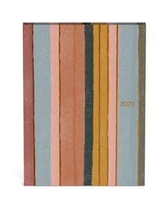 agenda 2020 - strepen - rosegold folie