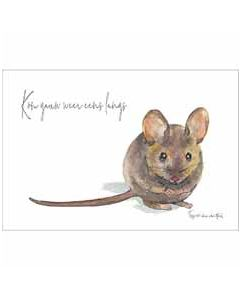 ansichtkaart fantasiebeestjes - kom gauw weer eens langs - muis