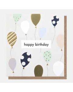 verjaardagskaart caroline gardner - happy birthday - ballonnen