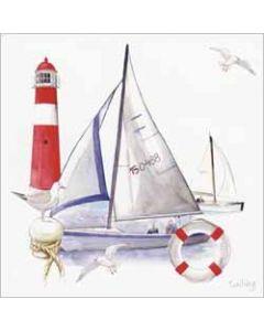 wenskaart - sailing - zeilboot