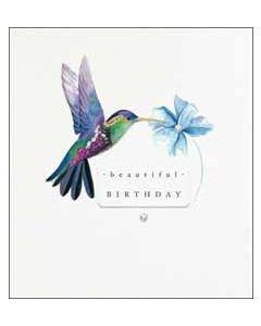 wenskaart the proper mail company - beautiful birthday - kolibrie