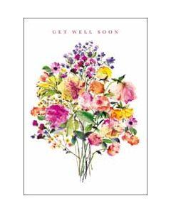 beterschapskaart - woodmansterne - get well soon - bloemen