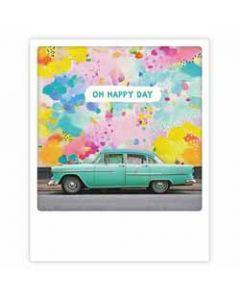 ansichtkaart instagram pickmotion - oh happy day - auto