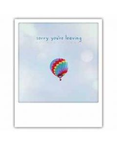 ansichtkaart instagram pickmotion - sorry you re leaving - luchtballon