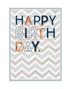 verjaardagskaart copper - happy birthday