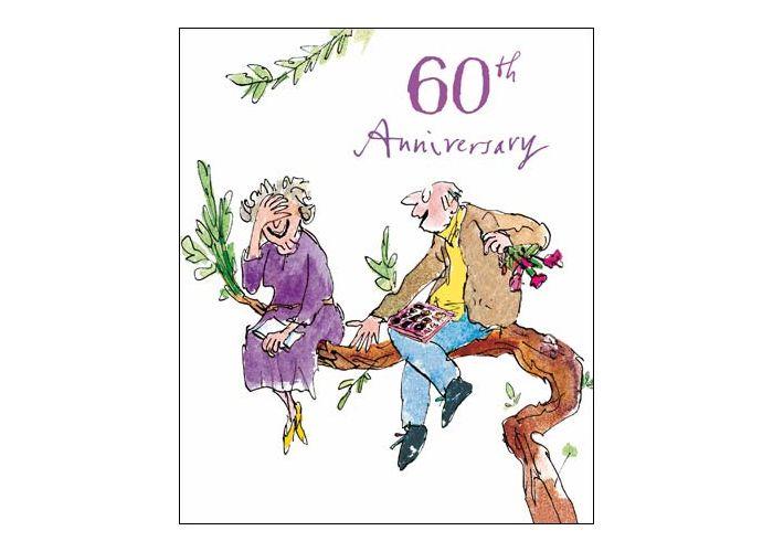 60 Jaar Getrouwd Wenskaart Woodmansterne Quentin Blake 60th Anniversary