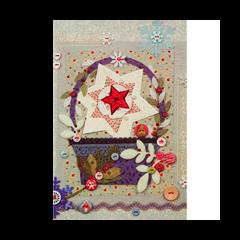 luxe kerstkaart -  mand met ster