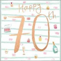 70 jaar verjaardagskaart - happy 70th