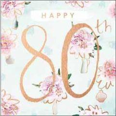 80 jaar verjaardagskaart - happy 80th