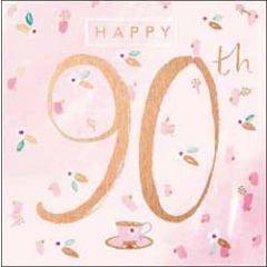 90 jaar verjaardagskaart - happy 90th