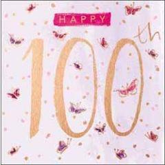 verjaardagskaart 100 jaar - happy 100th